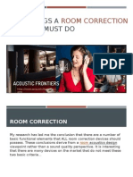 Two Things a Room Correction Product Must Do