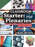 Classroom Starters & Plenaries
