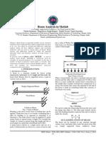Beam Analysis in Matlab