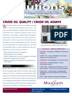 Crude Analysis - Maxxam