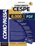 Como passar em concursos CESPE - Amostra
