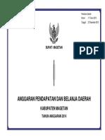Perda APBD Tahun Anggaran 2014 Kabupaten Magetan_0