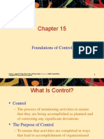 Foundations of Control