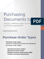 Purchasing Documents Types
