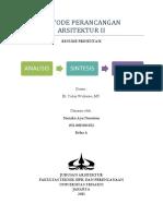 Metodologi Perancangan Arsitektur - Analisis Sintesis Konsep Program Desain