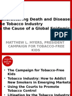 Tobacco Advertising and PR Strategies