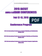 2015 Amsterdam Conference Program