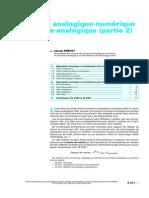 Conversions Analogique-numérique Et Numérique-Analogique (Partie 2)