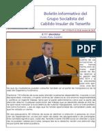 Boletín del Grupo Socialista del Cabildo de Tenerife 117. 9 - 15 de marzo 2015