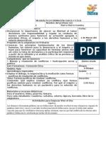 Planeación Formación Civica y E. Bloque V