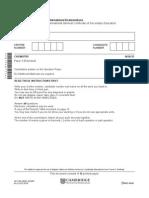 Cambridge IGCSE Chemistry Paper 32 June 2014