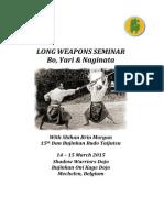 Long Weapons Seminar