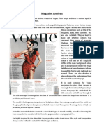 Magazine Analysis Vogue