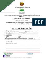 Ficha de Inscricao Edicao 2015