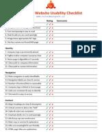 Sitedesign Checklist