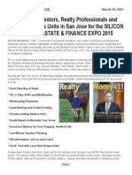 Silicon Valley Real Estate Finance & Tech Expo 2015