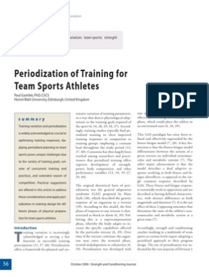 Periodization of Training for Team Sport Athletes