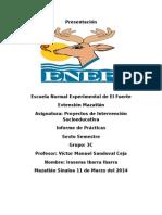 Reporte de Practicas 2015