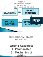 Week 2 Developemental Stages of Writing