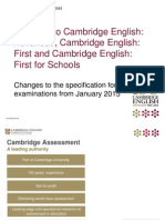 Exam Changes Spec Jan 2015