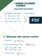 3 Dasar Dasar Aljabar Linear