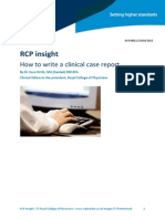 RCPhow to Write a Clinical Case Report