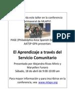 Aprendizaje a Través Del Servicio Comunitario
