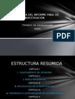 Estructura Del Informe Final de Investigación