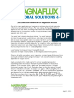 Leak Detection With Penetrant Inspection Process