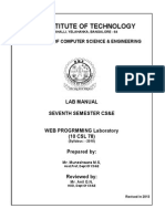 Web Lab Manual 2013 Cse
