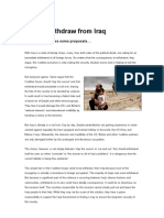 How to Withdraw From Iraq