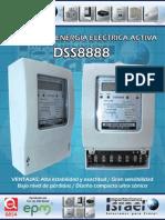 Medidor  de energía  2x120-208V