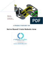 Servo Based 5 Axis Robotic Arm Project Report