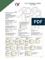 Camiseta Mini Vestido BWOF 009 EasyFashion 007 Instrucciones Español