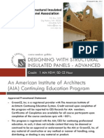 DESIGNING WITH STRUCTURAL INSULATED PANELS - ADVANCED