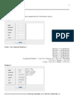 CBSE IP Practical file 2015 (Java and MySQL)