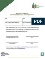Certificacion Del Ayudante Especial a Cargo Del Distrito