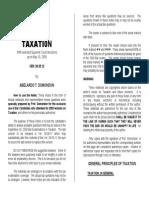 Taxation Law Reviewer by Abelardo Domondon