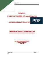 Torres de San Ignacio Memoria Tecnica