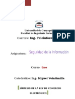 Resumen_Ley de Comercio Electrónico