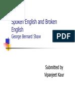 Spoken English and Broken English