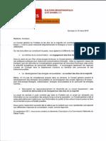 Réponse des candidats PS aux départementales à Gaspare