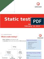 Static Testing1