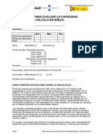 Screening Para Evaluar La Capacidad Numérica y de Cálculo en El Alumnado