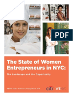 State of WenycThe State of Women Entrepreneurs in NYC: