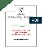 Plan de Estudios J310
