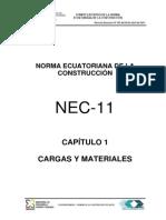 NEC 11 (Cargas y Materiales)