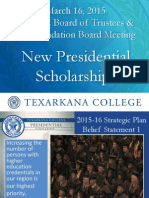 Texarkana College's New Presidential Scholarship