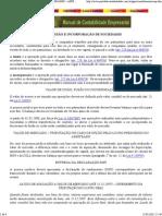 Cisão, Fusão e Incorporação de Sociedades – Aspectos Contábeis
