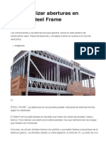 Cómo realizar aberturas en paneles Steel Frame